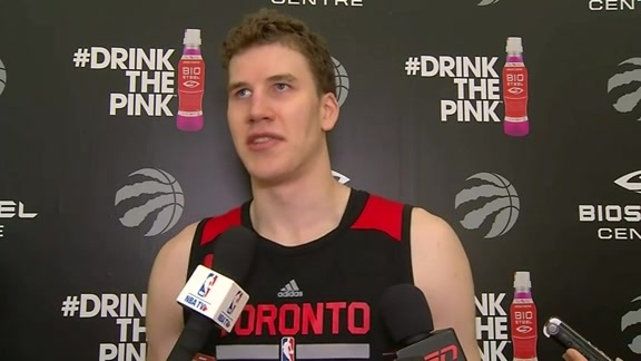 Raptors Practice: Jakob Poeltl - October 12, 2016