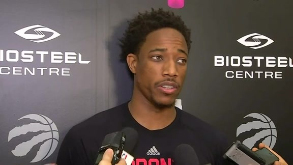 Raptors Practice: DeMar DeRozan - October 12, 2016