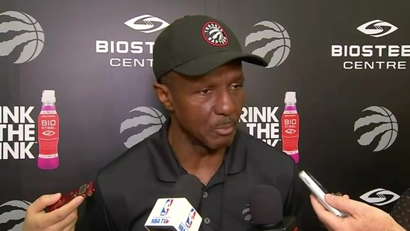 Raptors Practice: Dwane Casey - October 12, 2016