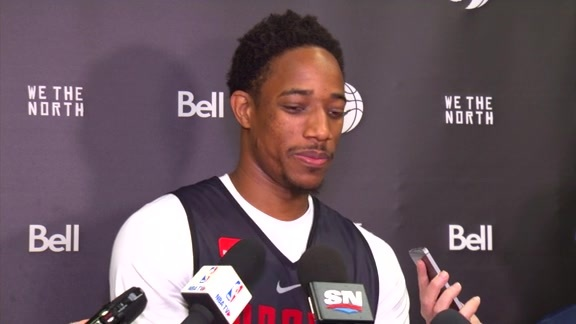 Raptors Shootaround: DeMar DeRozan - October 10, 2017