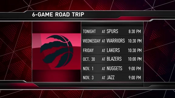 Raptors Game Preview: Toronto at San Antonio - October 23, 2017