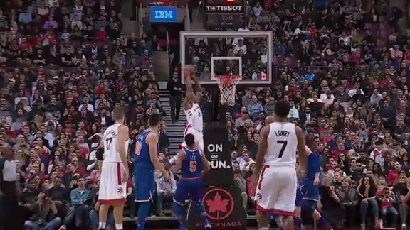 Raptors Highlights: Lowry to DeRozan Alley-Oop - November 17, 2017