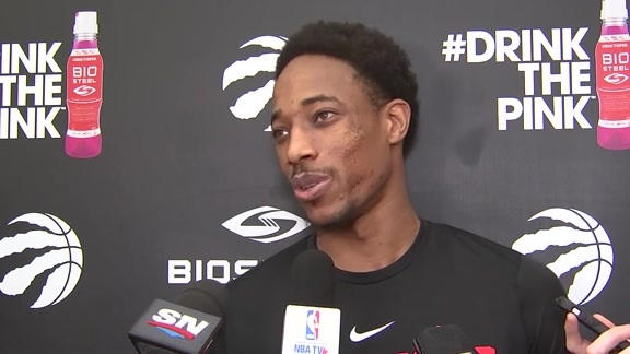 Raptors Practice: DeMar DeRozan - November 21, 2017