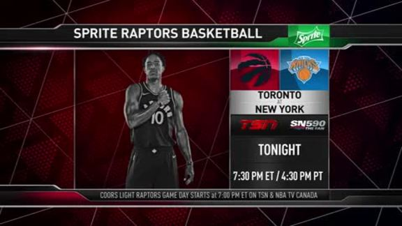 Raptors Game Preview: Toronto at New York - November 22, 2017