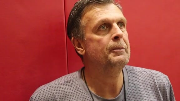 Kevin McHale: Post Practice 10/02/15