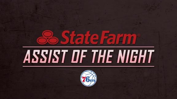 State Farm Assist of the Night - Sixers vs. Warriors