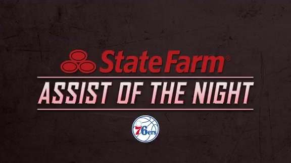 State Farm Assist Of The Game - Sixers vs Hawks