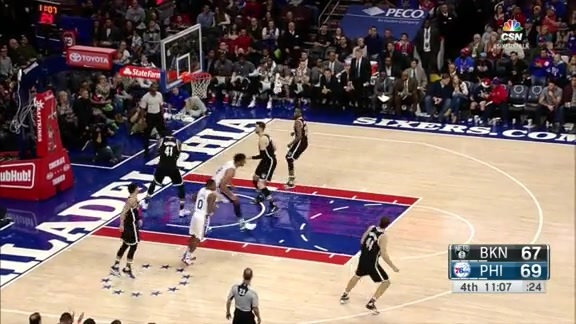 Highlights: Jahlil Okafor vs Nets (2/6/16)
