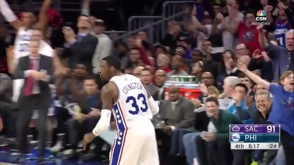 Highlights: Robert Covington vs Kings (2/10/16)