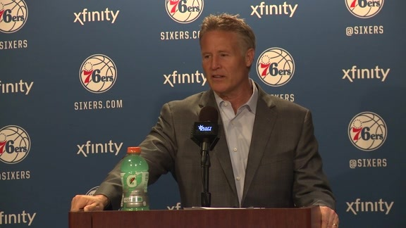 Postgame: Brett Brown (4/8)