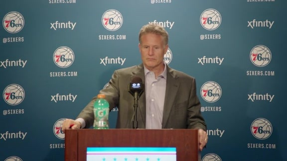 Postgame: Brett Brown (4/10)
