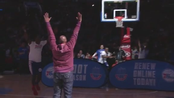 Fan Hits Half Court Shot For Season Tickets