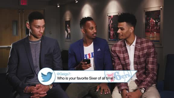 Twitter Talk with Ben Simmons and Timothe Luwawu