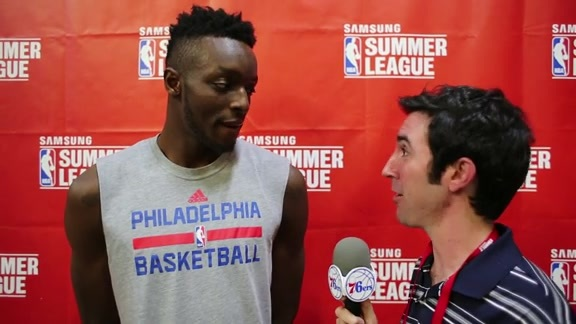 1-on-1 with Jerami Grant | 76ers vs Bulls (7/10/16)