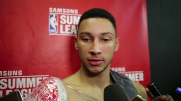Ben Simmons Postgame | 76ers vs Warriors (7/12/16)