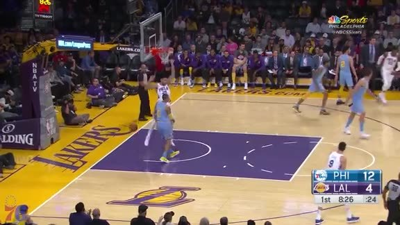 Highlights | Ben Simmons vs Lakers (11.15.17)