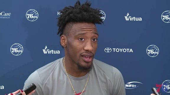 Shootaround | Robert Covington vs Trail Blazers (11.22.17)