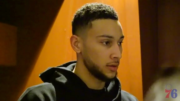 Postgame | Ben Simmons at Pelicans (12.10.17)