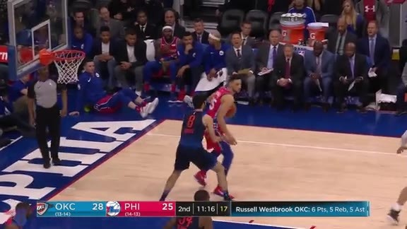 Highlights | Ben Simmons vs Thunder (12.15.17)