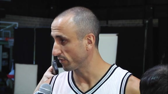 Manu Ginobili: Media Day