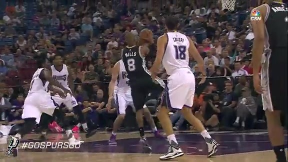 Spurs at Kings: Patty Mills First Half Highlights
