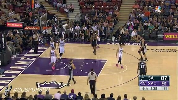 Spurs at Kings: Kyle Anderson Highlights