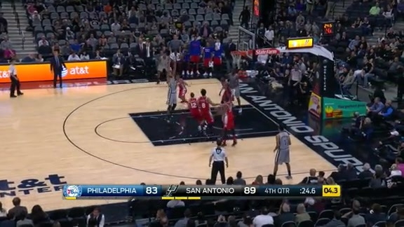 Highlights: Spurs vs Sixers