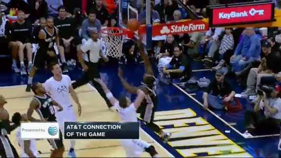 Assist of the Game: Leonard to Simmons Finish and Foul