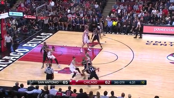 Assist of the Game: West Swings it Inside to Aldridge