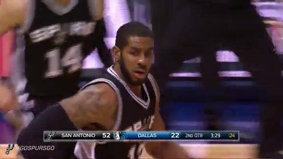 Highlights: LaMarcus gets a Double-Double in Dallas