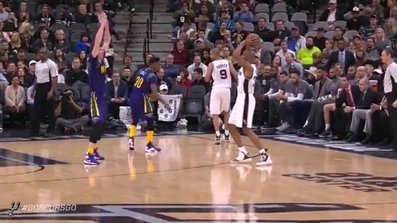 Assist of the Week: D West to Kawhi for the Ally-oop