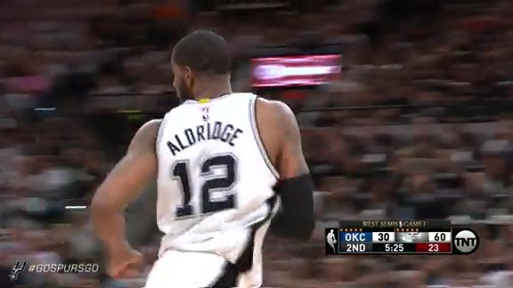 LaMarcus Leads With 38 in Game 1