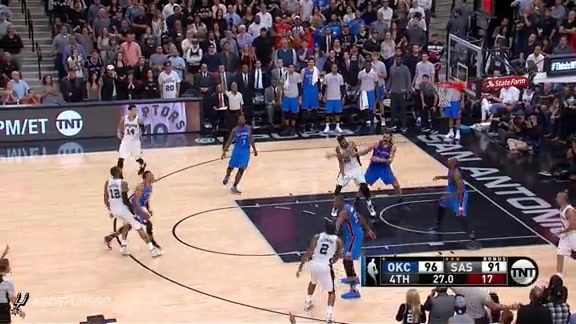 Assist of the Game: Parker Kicks out to Aldridge for Three