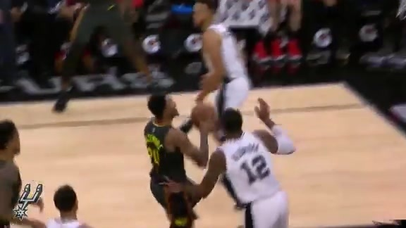 AARP Block of the Game: LaMarcus Does it on Both Ends
