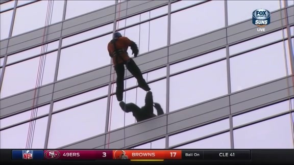 Suns Gorilla Goes Over The Edge