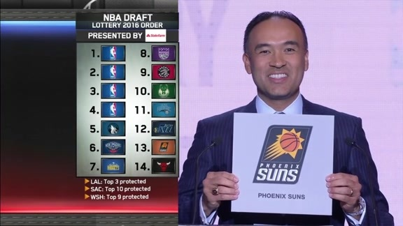 Suns Receive 4th Pick In 2016 NBA Draft Lottery