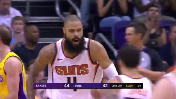 Chandler Throws Down Alley-Oop From Booker vs Lakers