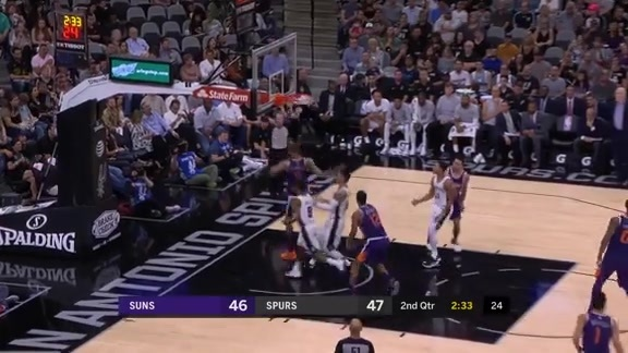 James and Chandler Connect on the Fast Break Alley-Oop
