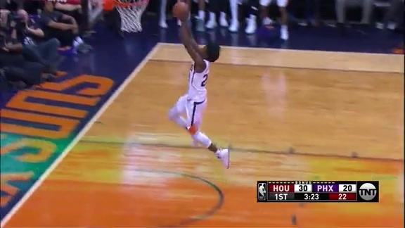Jackson Follows His Steal with a Fast Break Dunk