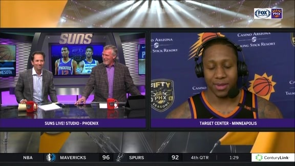 Isaiah Canaan w/ Tom and Tom after #SunsAtWolves