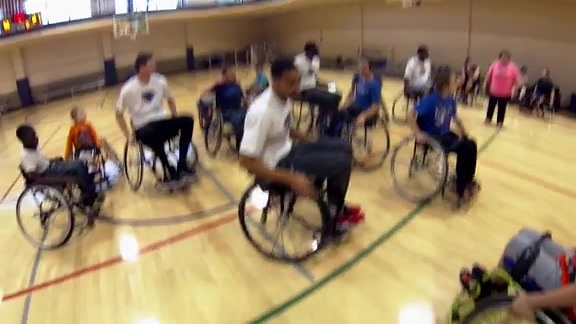 OKC Blue Learns Wheelchair Basketball