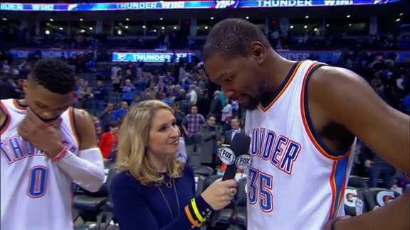 Walkoff Interviews: Durant and Westbrook - 2/3