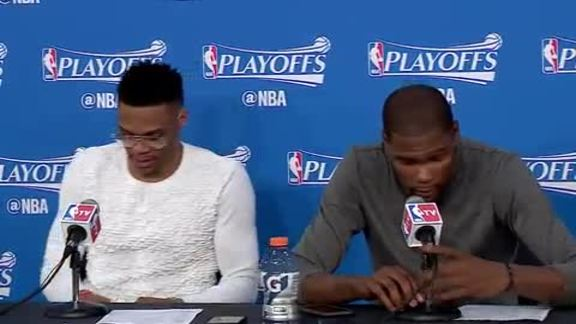Game 2 Postgame: Durant, Westbrook - 4/18