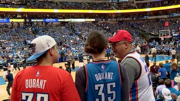 Thunder Fans in Dallas