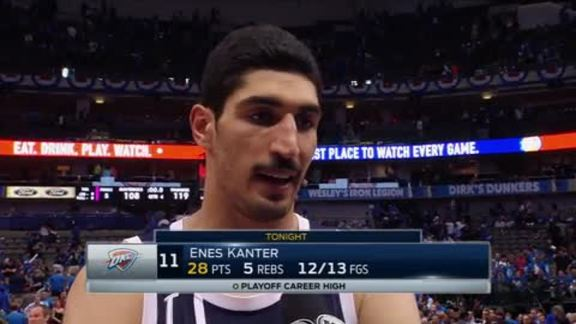 Walkoff Interview: Enes Kanter - 4/23
