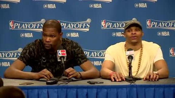 Game 4 Postgame: Durant, Westbrook - 4/23