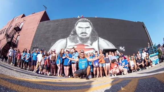 Larger Than Life Adams Mural in OKC