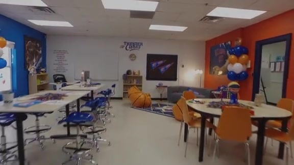 Thunder, Positive Tomorrows Unveil New Classroom