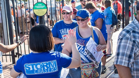Tulsa Drillers Fans Revel at Thunder Night