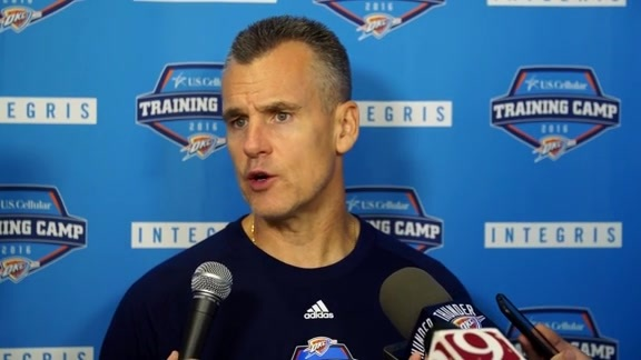 Training Camp: Coach Donovan - 9/25